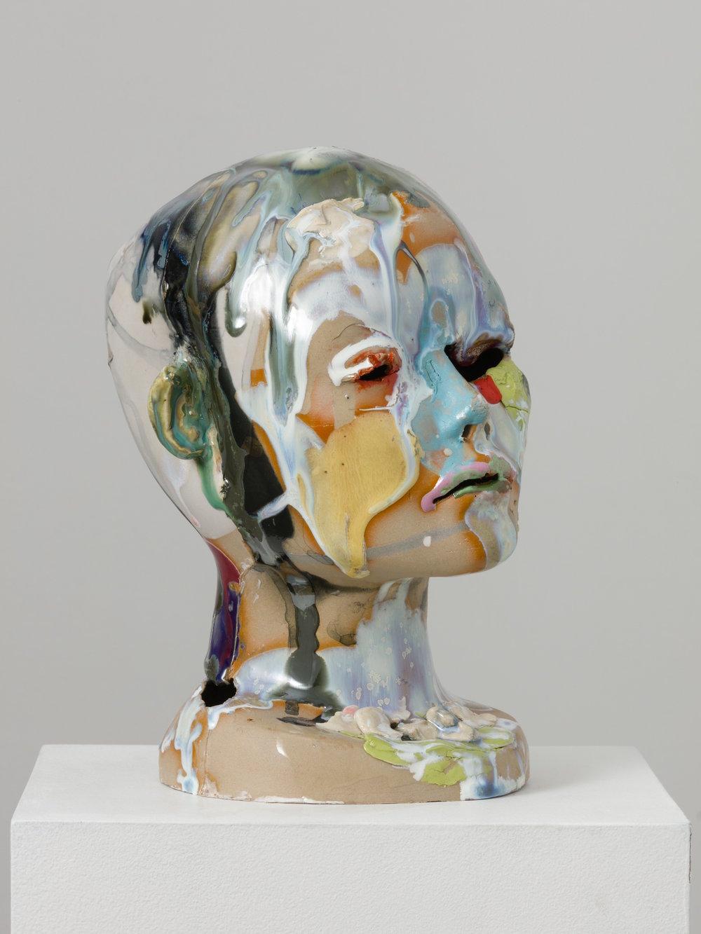Jennie Jieun Lee, Untitled No. 28, 2016, stoneware slipcast, glaze, 10 x 6 x 6 in.