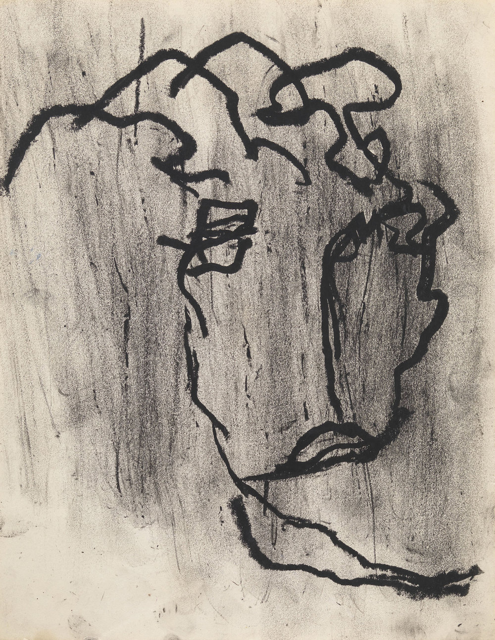 Dan Asher,  Untitled,  1980s, oil stick on paper, 14 x 11 in.