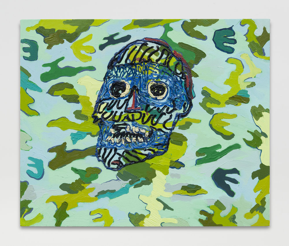 Alex Chaves,  Small Camo,  2016, oil on canvas, 20 x 24 in.