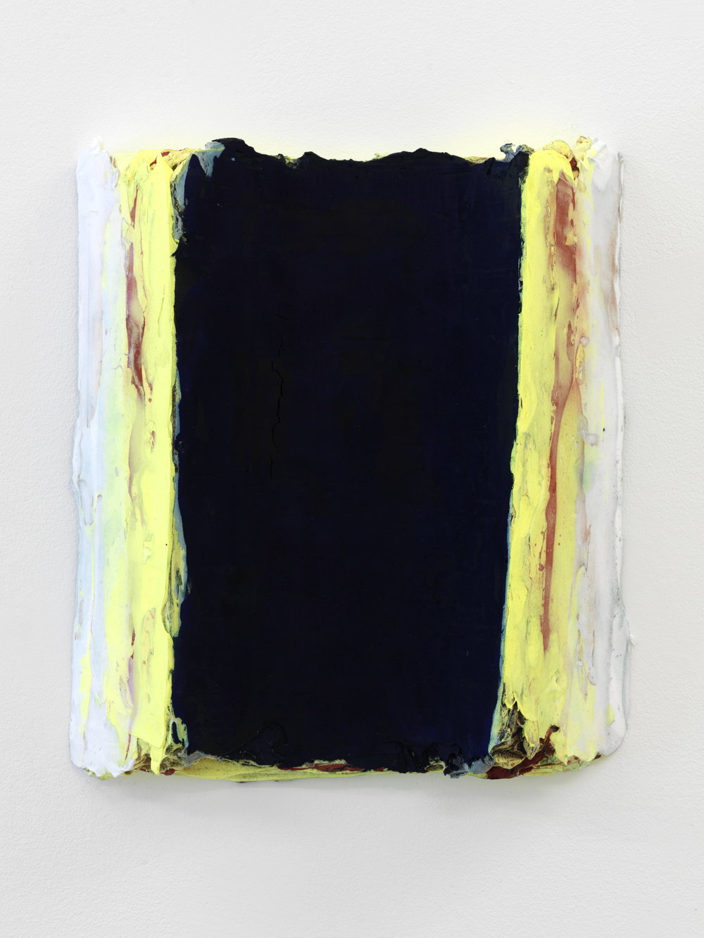 Nicolas Roggy,  Untitled,  2013, pigment and acrylic medium on PVC, 15 x 13 in.