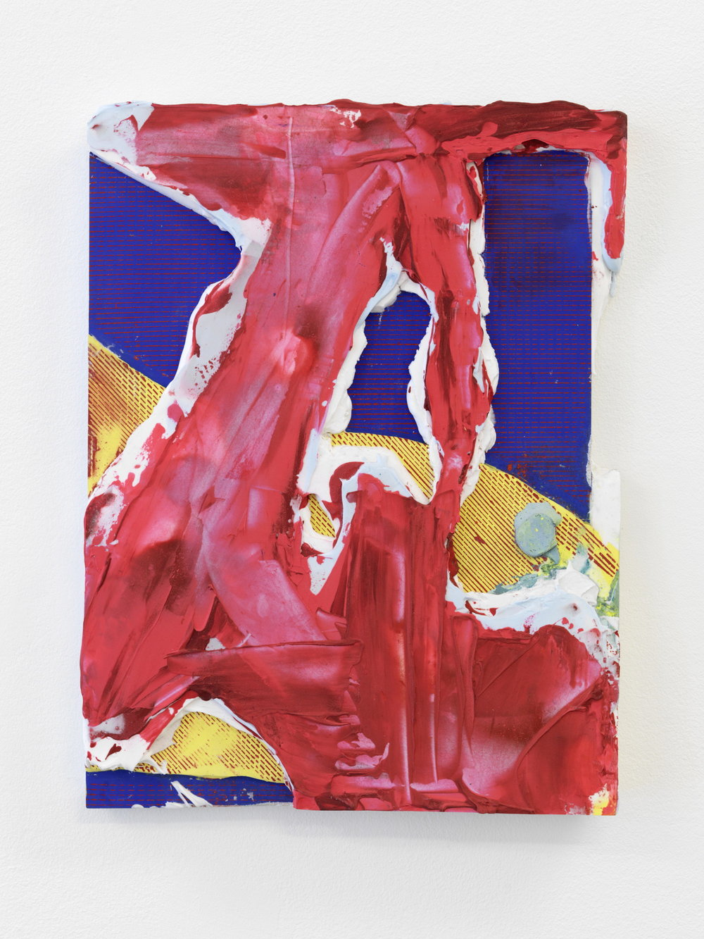 Nicolas Roggy,  Untitled,  2013, pigment, gesso and acrylic medium on PVC, 16 x 12 in.