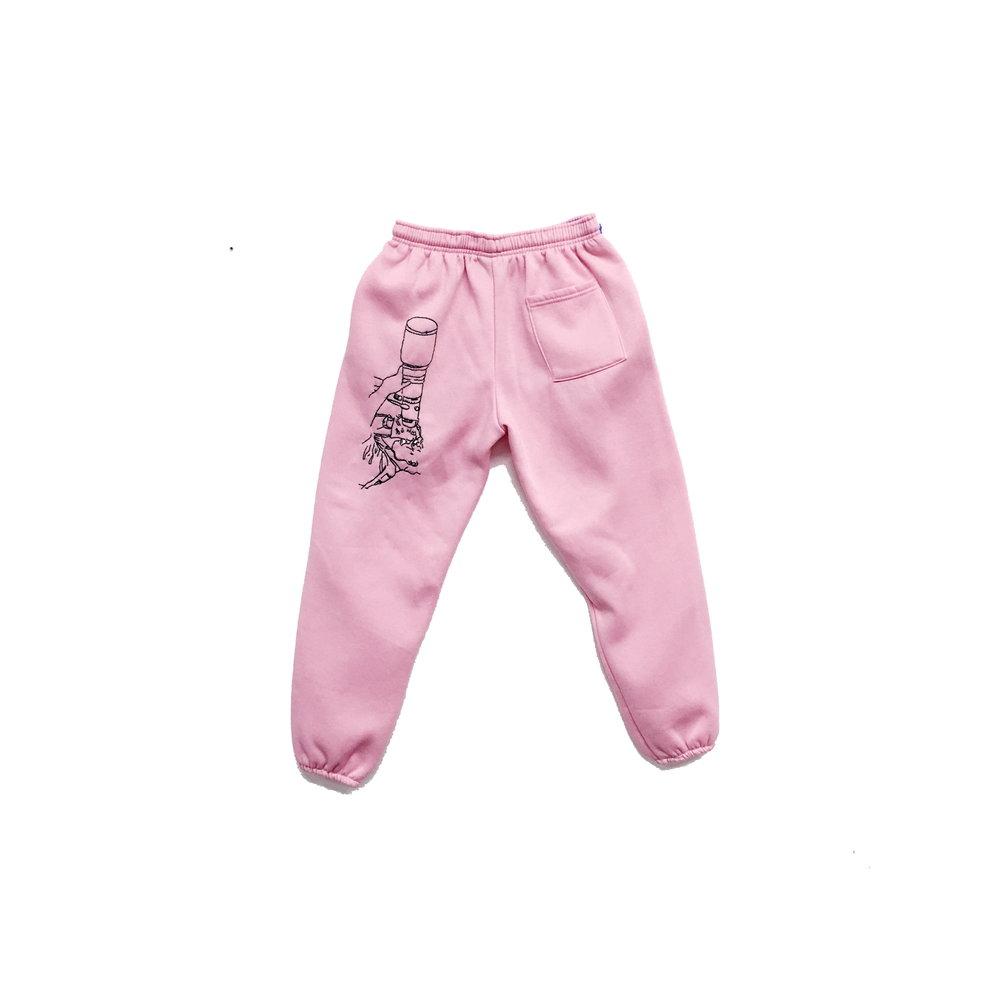 JPW3,   Pink Grunt , 2017, sweat pants, dimensions variable