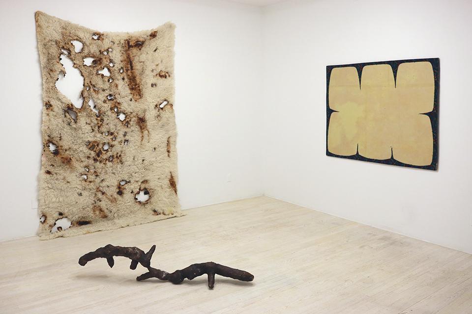 Installation view, ANNA BETBEZE, BRANDON NDIFE, MARTHA TUTTLE, JESSICA VAUGHN,  organized by NICOLE KLAGSBRUN, Halsey McKay Gallery, East Hampton, NY