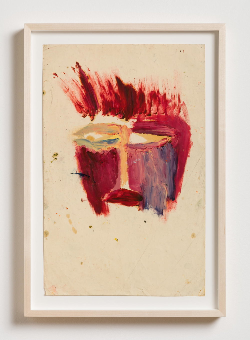 Dan Asher,  Untitled , 1990, oil stick on paper, 12 × 18 in., 21 ⅞ × 15 in.(framed)