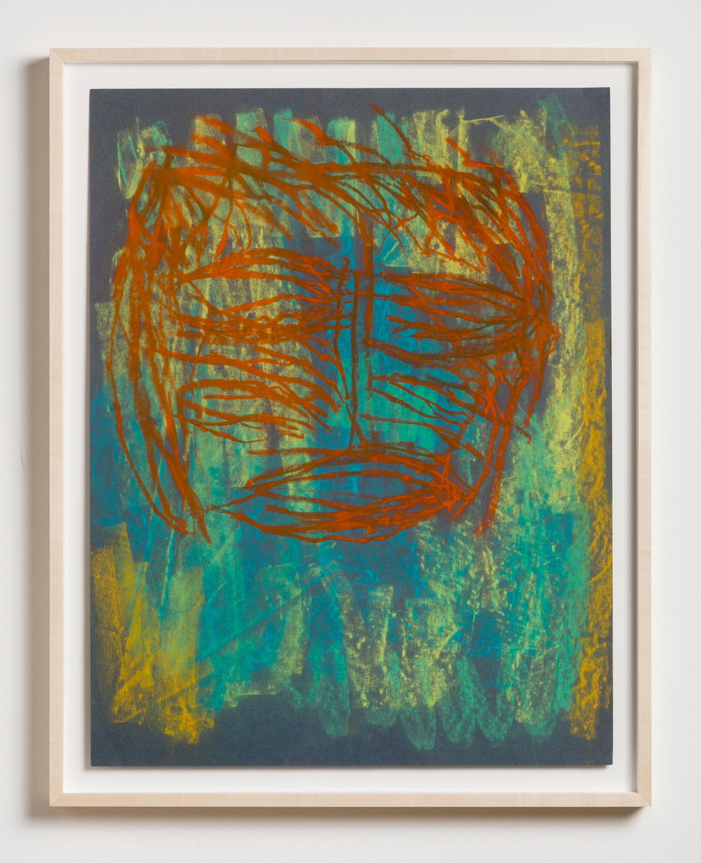Dan Asher,  Untitled , 1980s, pastel on paper, 26 × 19 in., 28 ½ × 22 ⅝ in. framed)