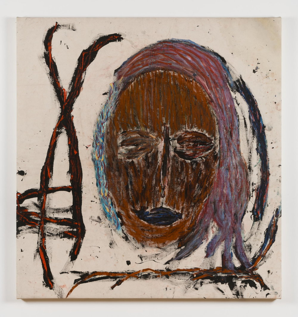 Dan Asher,  Untitled , 1980s, oil on canvas, 59 × 56 in., 56 × 52 ½ in.(base)