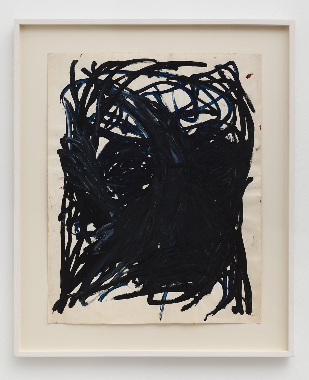 Dan Asher,    Untitled , 1980s, tempera on paper, 29 × 23 in., 36 × 30 in. (framed)