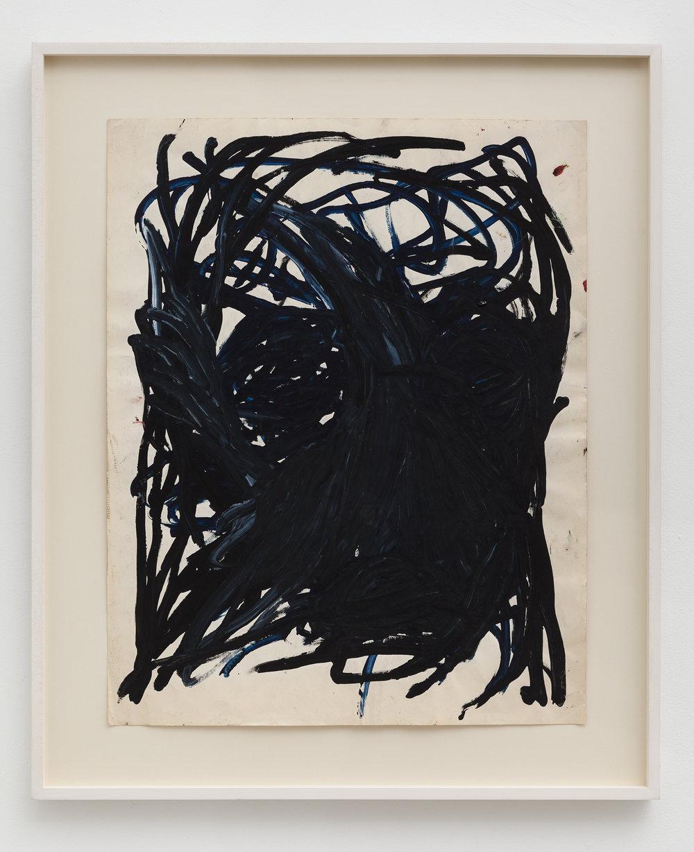 Dan Asher,   Untitled , 1980s, tempera on paper, 29 × 23 in.,36 × 30 in. (framed)