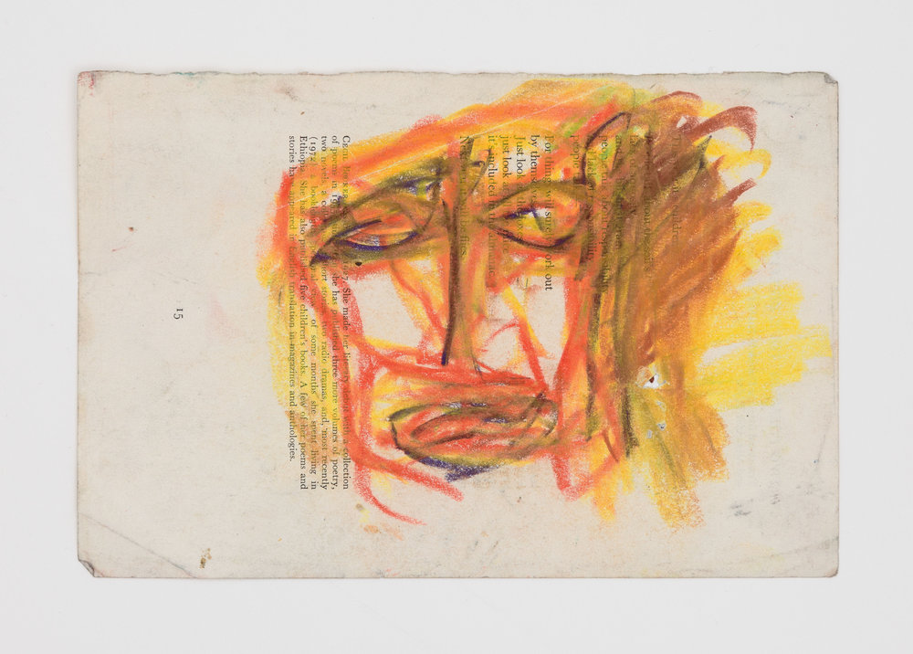 Dan Asher,  Untitled , 1980s, oil stick on paper, 6 × 9 in.