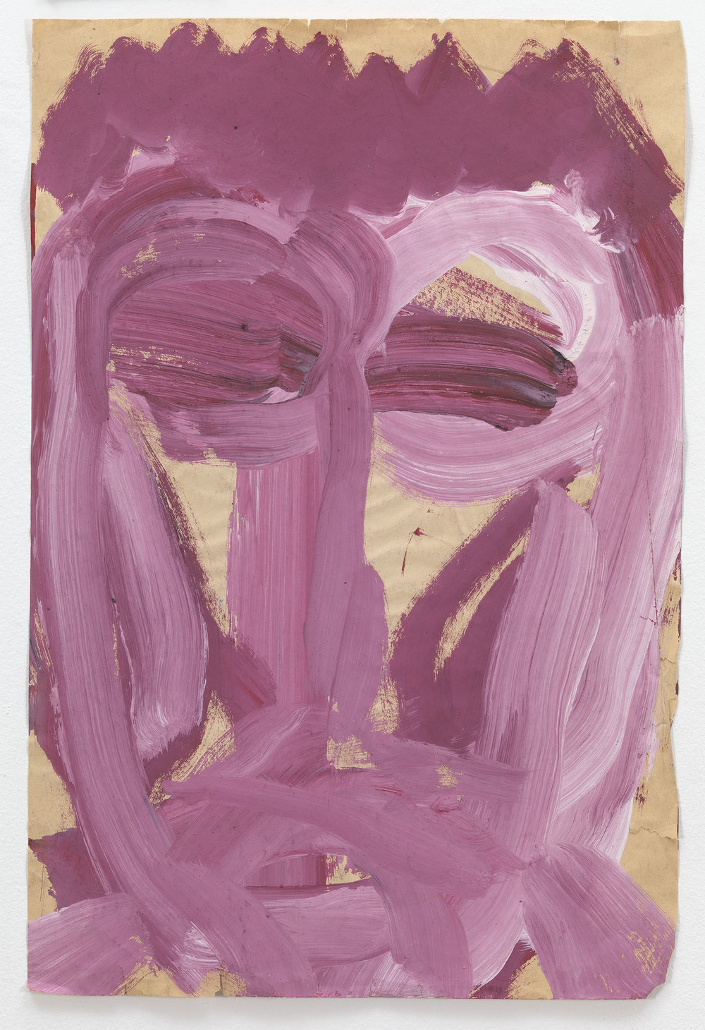 Dan Asher,    Untitled , 1984, tempera on paper, 18 × 12 in., 20 ¾ × 14 ¾ in. (framed)