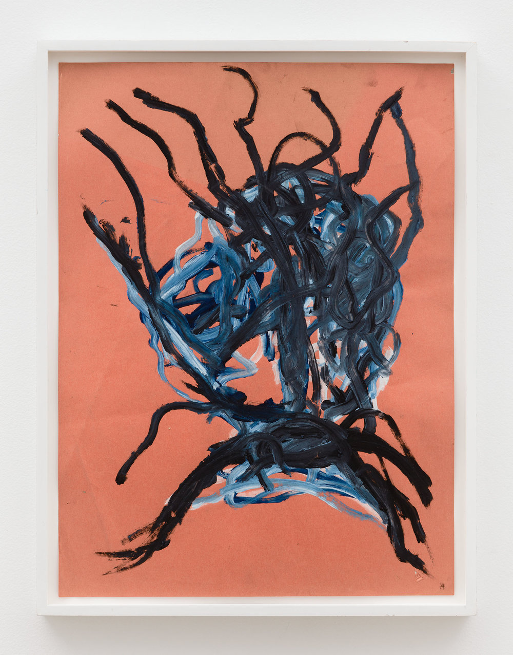 Dan Asher,    Untitled , 1980s, mixed media on paper, 23 ½ × 17 ½ in., 26 × 19 ¾ in. (framed)