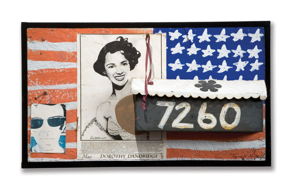 Tyree Guyton,  New Address,  mixed media, 18 × 30 ½ in.
