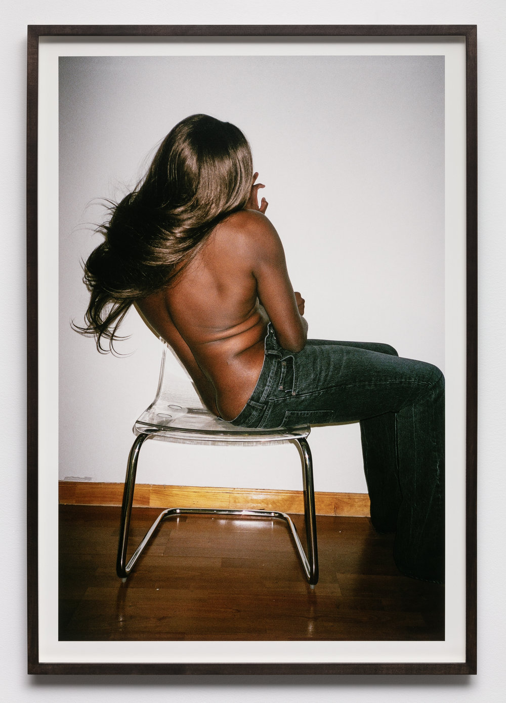 Kayode Ojo,  Closed Audition: Balenciaga Bootcut , 2018, C-print mounted on museum board, 39 ⅞ × 26 ⅜ in.