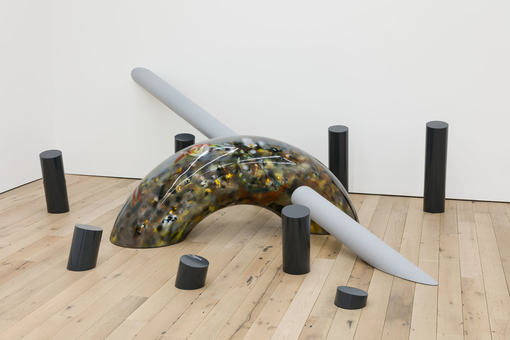 Pat O'Neill,  British Columbia Sweep , 1970, fiberglass, wood, lacquer surface, 144 × 180 × 48 in.