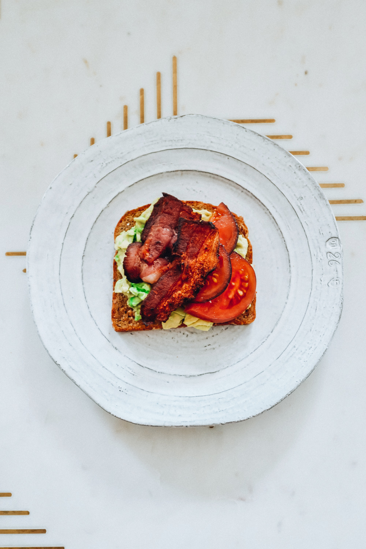 Tomato Bacon Avocado Toast