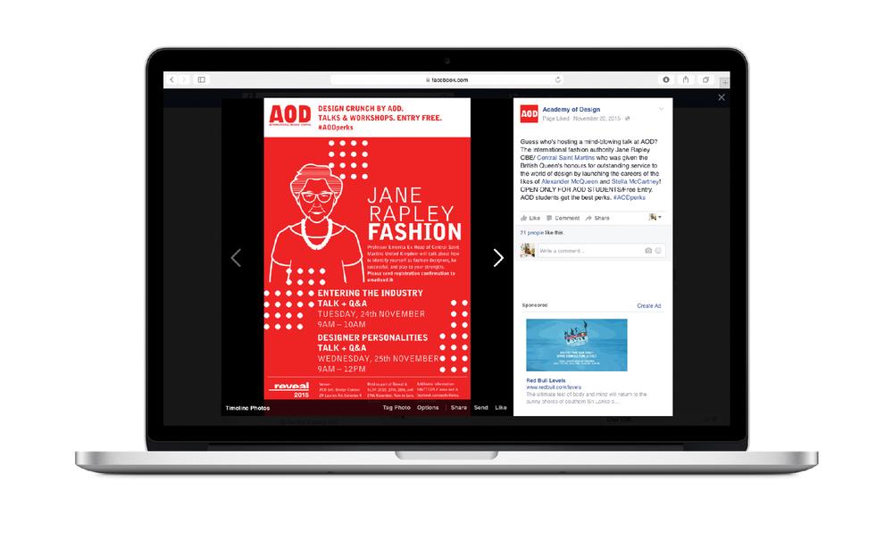 Social media promotion for student workshops.