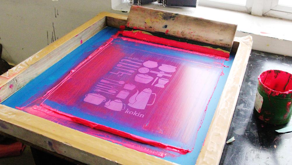 Print process. Design by AOD Graphics student Arunthathi Thiyagarajah.