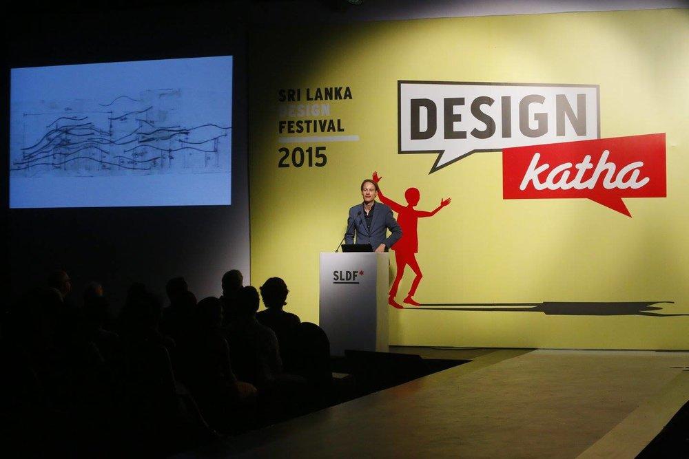 Dutch designer Daan Roosegaarde at Design Katha 2015.