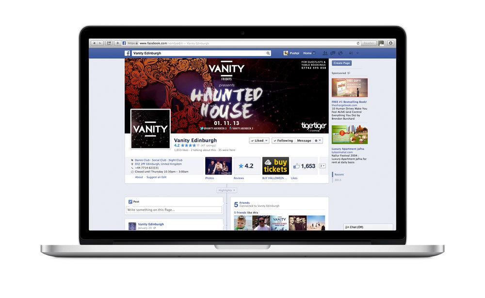 Social media promotion for Halloween, 2013.