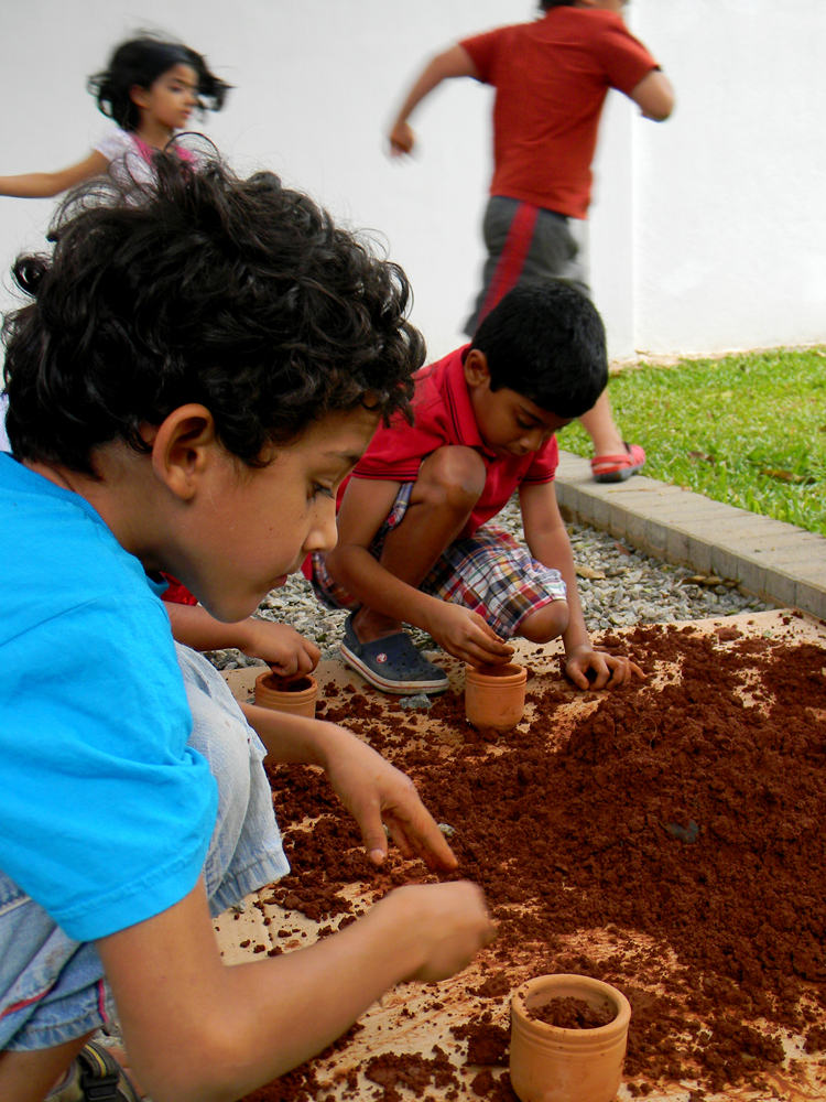 Planting An Edible Garden. Interactive workshop at Galleryske, Bangalore. 2012.