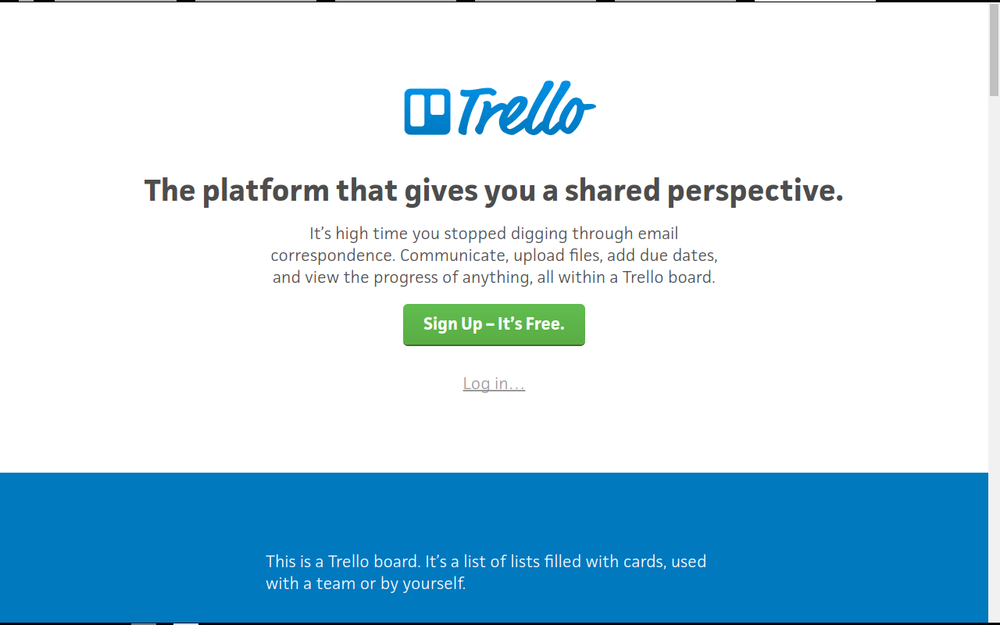 Trello uses Kanban and notes in a bit of a cool mix up
