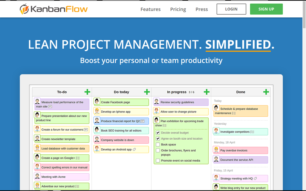 Kanban Flow is pretty good, but lacks file attachments in the free version.