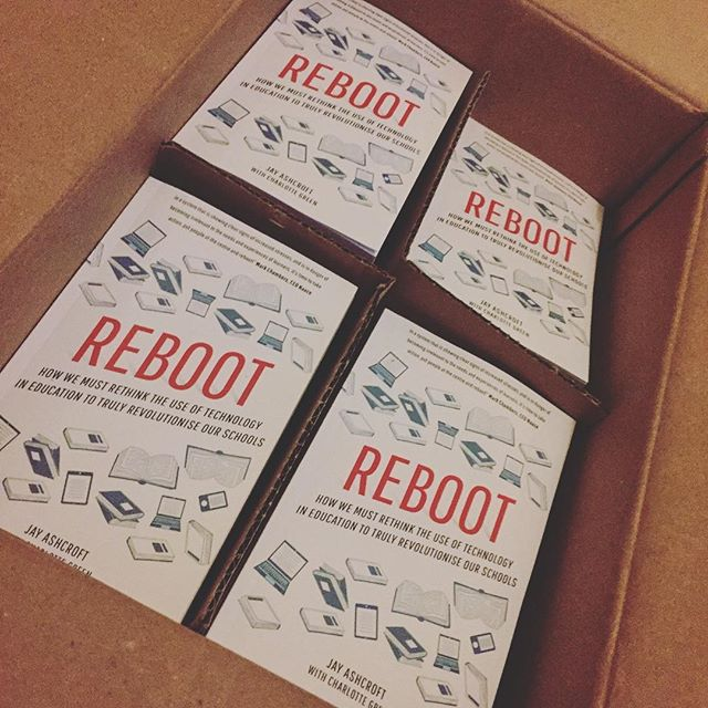Look what just arrived from America! The first printed copies are now in the country and 2017 will be the year we begin to rethink school technology and truly transform education. #REBOOT Find out more at www.learnmaker.co.uk/reboot