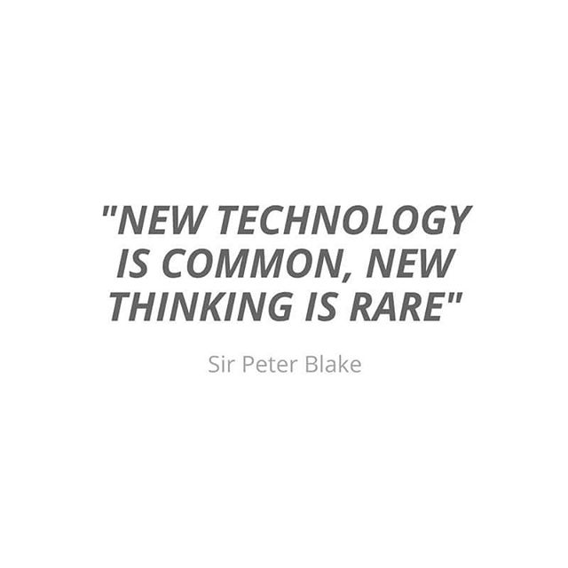 We might feel like technology powers much of the change in the world but it's new thinking that is most vital. What new ideas can we embrace in education?