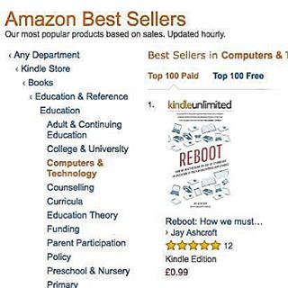 Amazed to have hit the #1 spot in Education Technology on Amazon with the launch of Reboot. It's been a life goal to become a best-selling author and to achieve that at 30 years old feels fantastic.