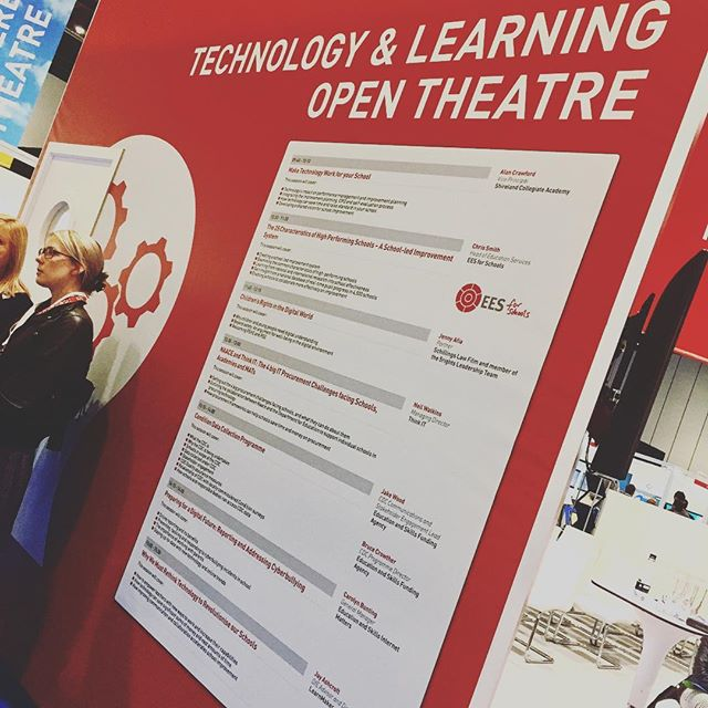 3pm and I'll be talking at this year's London Academies Show on how schools can rethink their use of tech to revolutionise their institute #academiesldn17