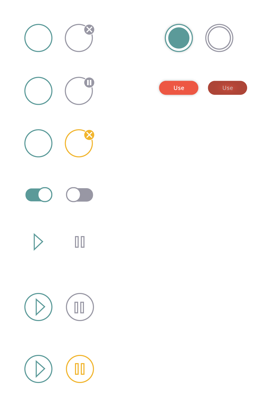 A bunch of ideas for the button in the top right corner of the coaster view.