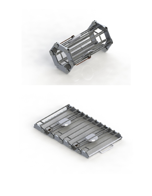 """CAD DESIGN   We decided to move forward with a hexagonal roll up iteration (lovingly dubbed """"Hex-Ferno"""") due to ease of compaction, lack of pinch points and mechanical robustness. We then went into Solidworks to CAD our model and explore its physicality more in depth."""