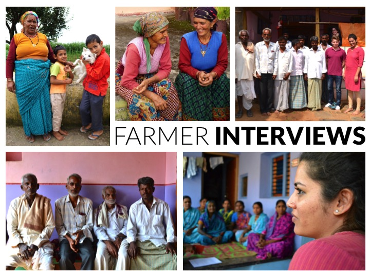 A compendium of our farmer interview photos.