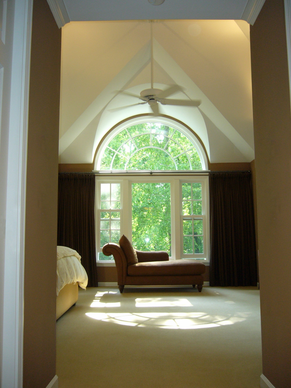 Master Bedroom Arched Window