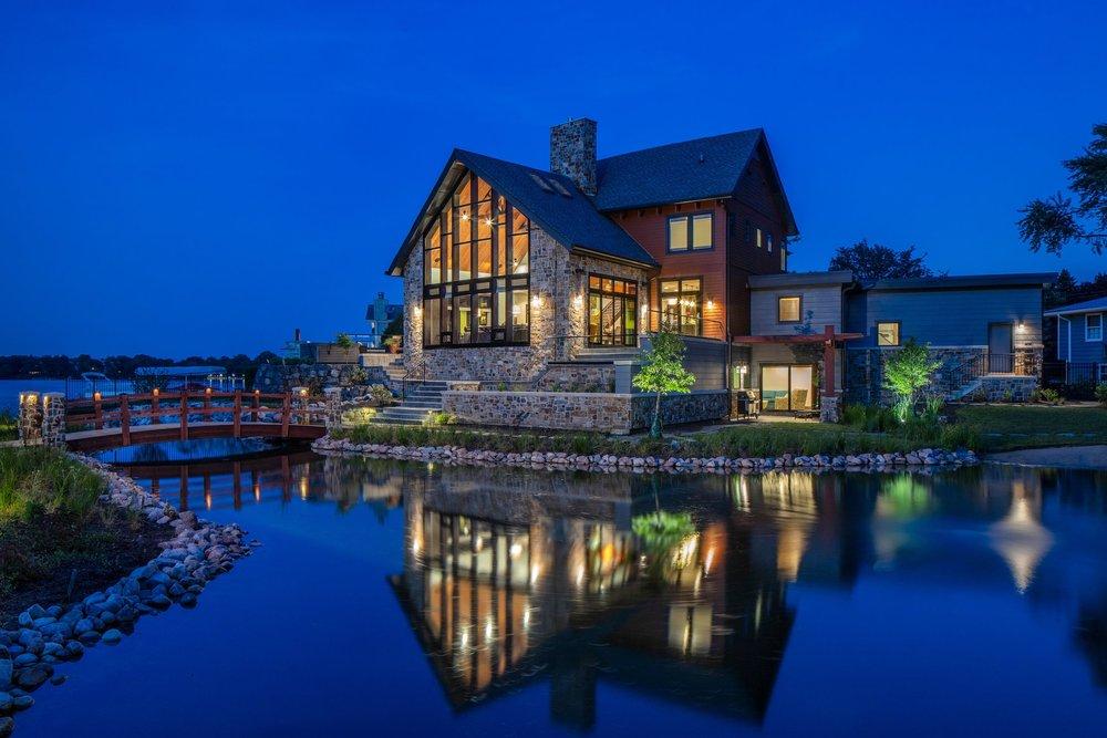 Modern Solar Lake Home
