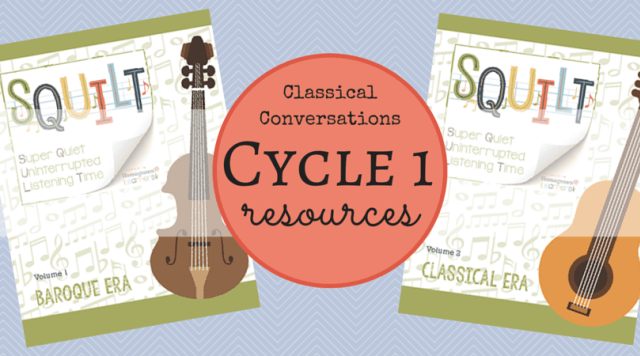 Classical Conversations Cycle 1 resources - SQUILT Music Appreciation