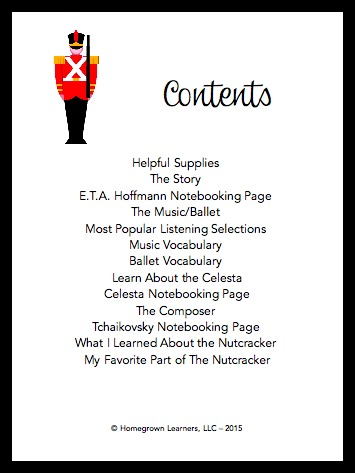 Table of Contents -- Nutcracker Unit Study from SQUILT Music