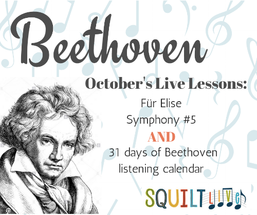 A Bundle of Beethoven — an entire month of nothing but Beethoven. Children learn about Beethoven all month and parents don't have to lift a finger!