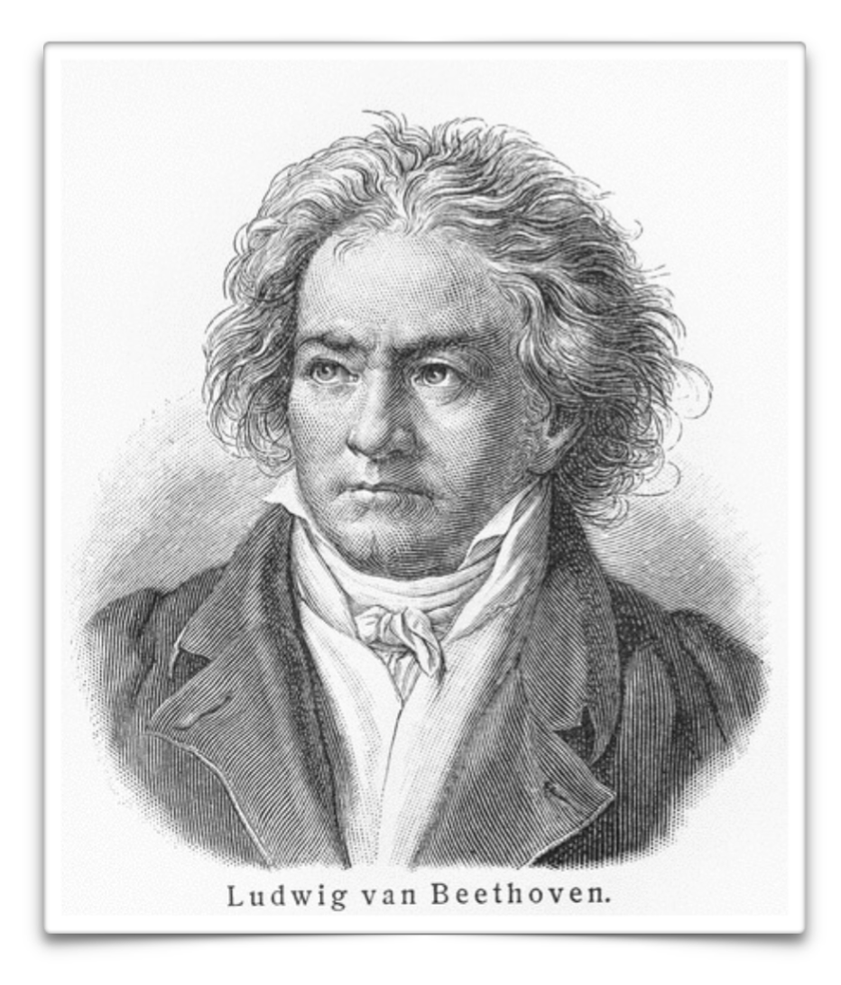 Printable Picture of Ludwig van Beethoven to accompany SQUILT music appreciation study