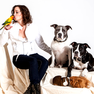 Karen and a few of her own furry friends!
