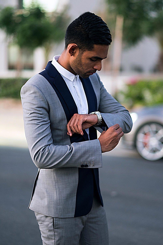 wael twotone suit