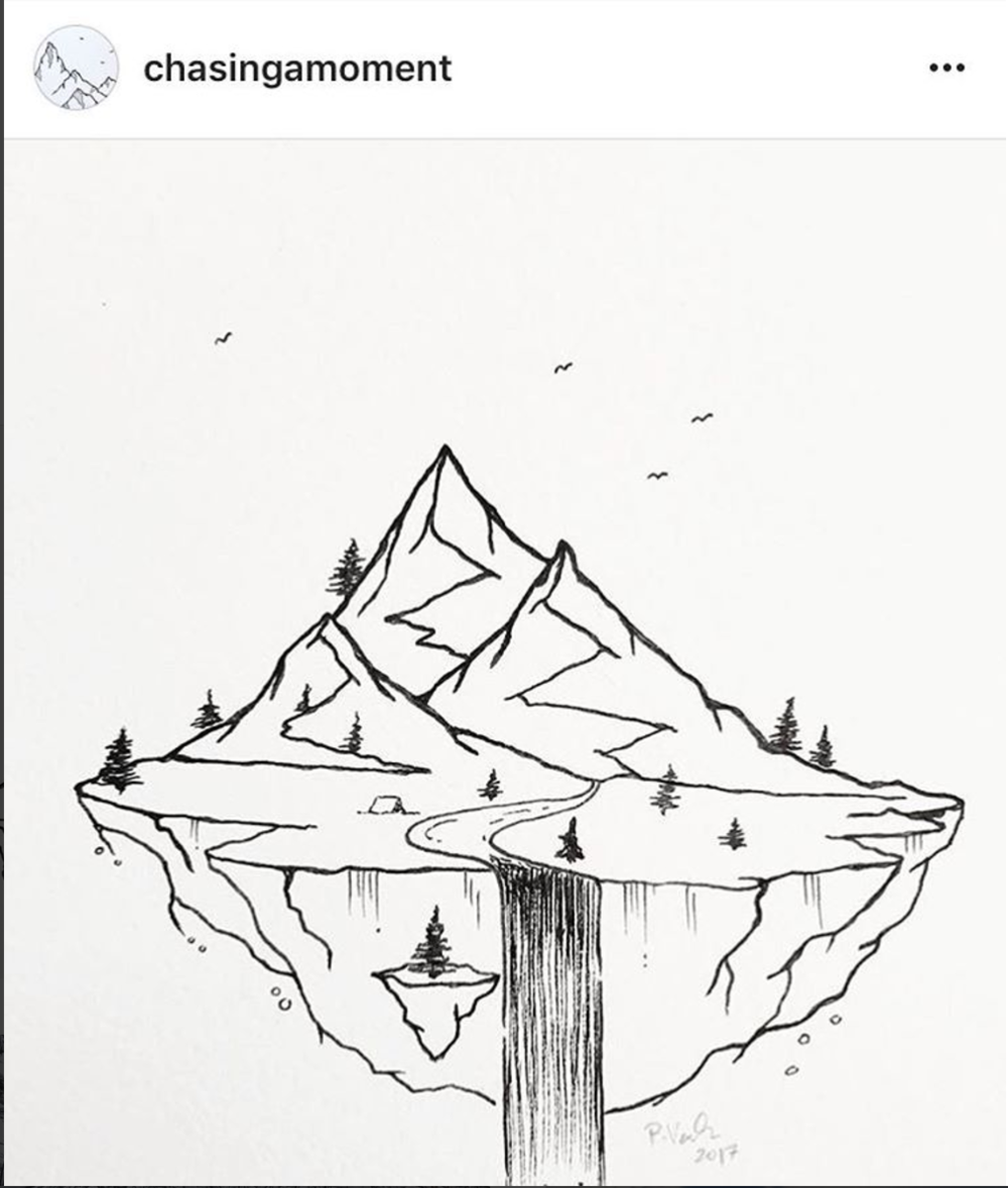 Instagram Find:   @chasingamoment  features whimsical nature drawings