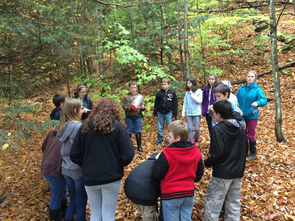 A scene from a habitat program we led with Grafton Elementary School's 6th grade class.
