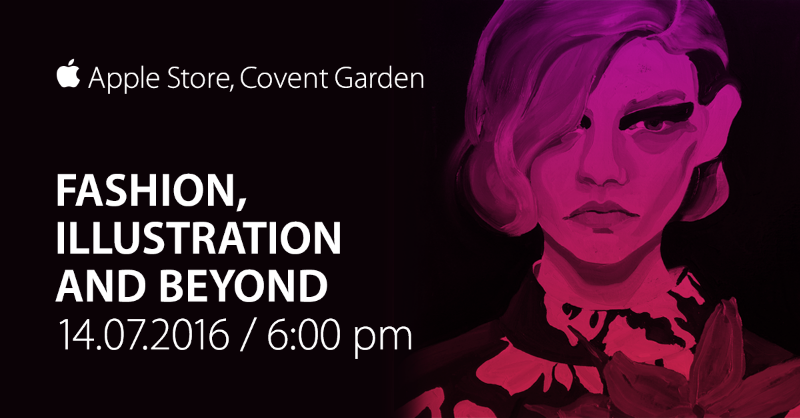 Fashion, Illustration and Beyond Thursday, 14 July 2016 at 18:00 Apple Store, Covent Garden No. 1-7 The Piazza London WC2E 8HB Sign In to RSVP Join illustrators Gill Button and Manjit Thapp along with AnOther Magazine fashion features editor Olivia Singer in conversation with Navaz Batliwalla.
