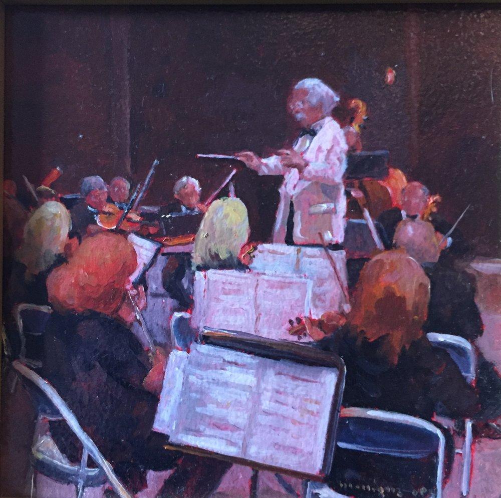 Granite State Symphony, oil, 8 x 8, (+ frame), $500