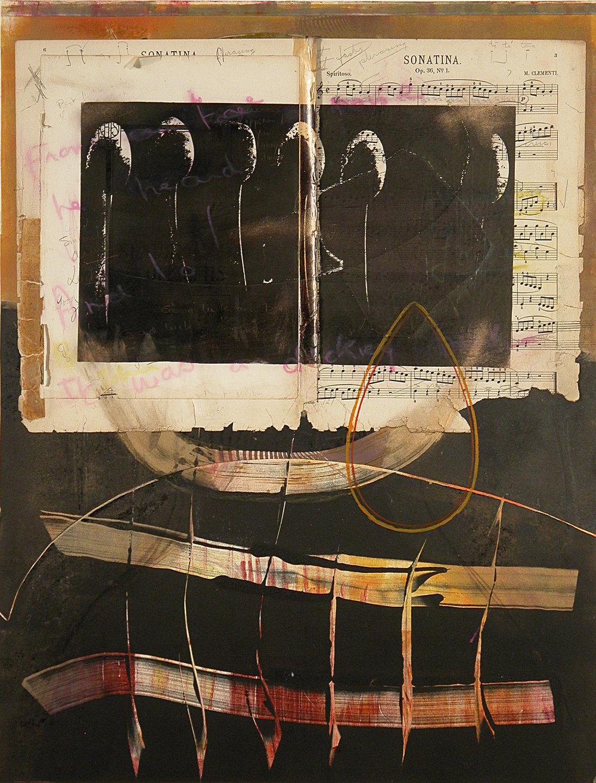 "Spiritoso, montype, chine colle, lithograph, 32 x 26"", $1200"