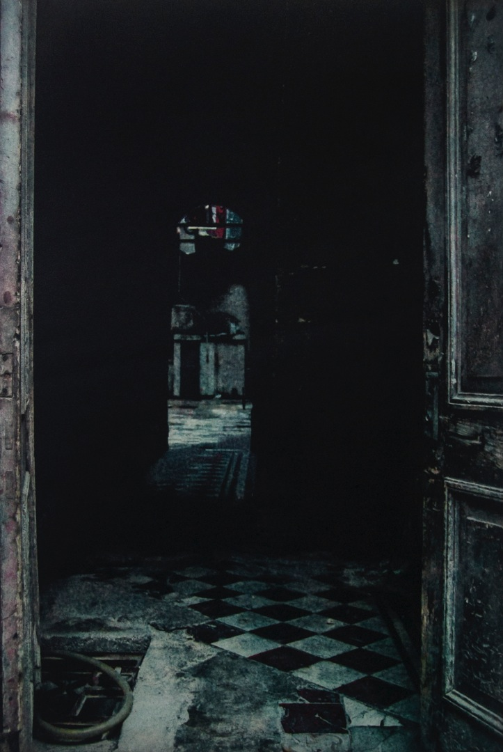 "Old Havana Doorway, polymer plate photogravure, 22"" x 19"", $450"
