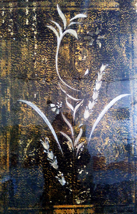 "Arabesque, encaustic, 24"" x 18"", $1800"