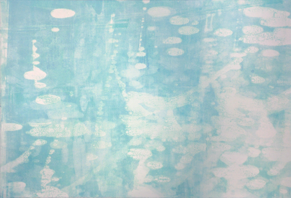 "Dancing On The Water, monotype, 18"" x 26"", $625"