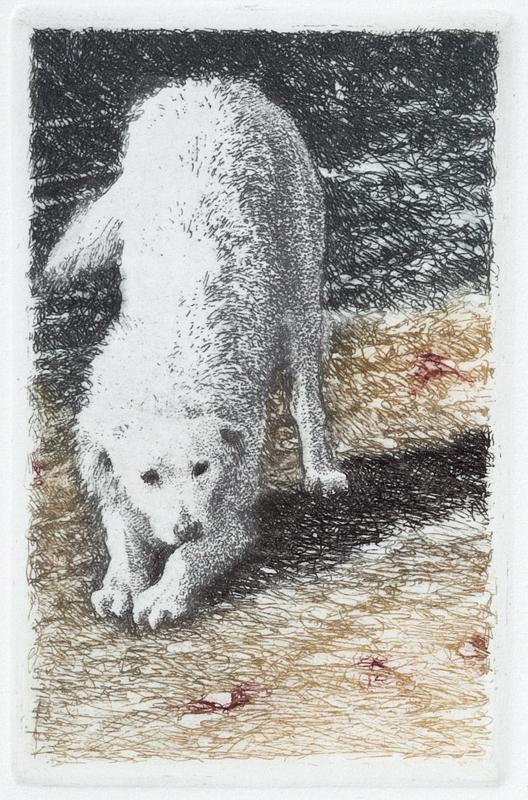 "'Downward Dog', 10""x8"", $90 framed, $60 unframed"